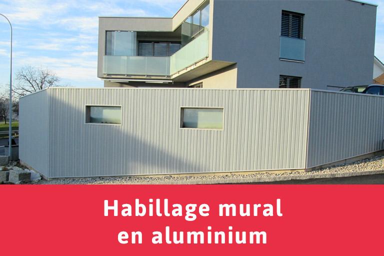Habillage Mural Bois Acoustique : Habillage mural en aluminium